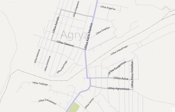 Карта Агрыза
