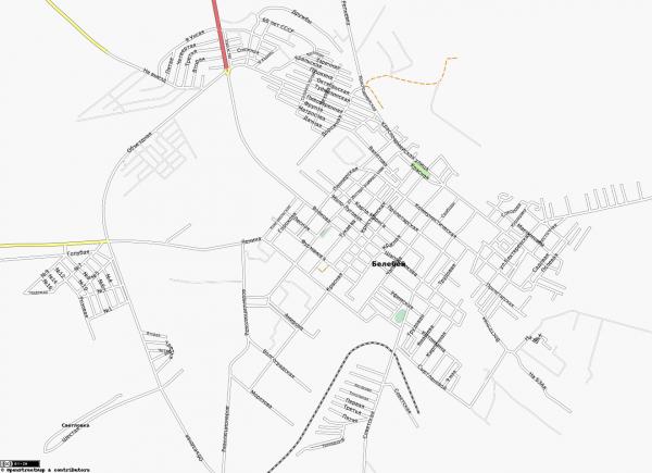 Карта Белебей