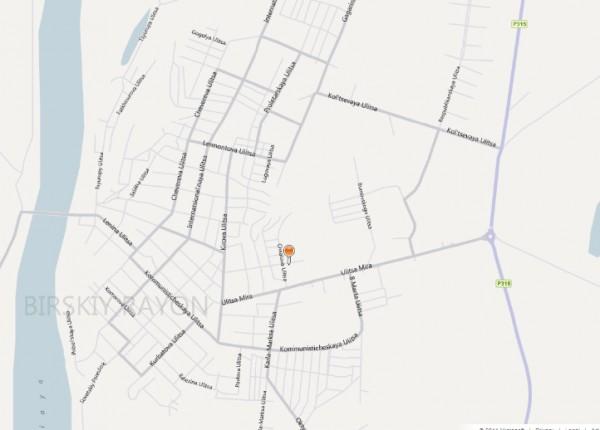 Карта города Бирска с улицами