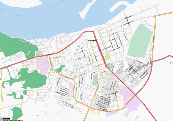Карта Чистополя