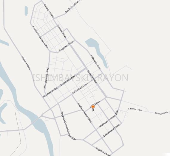 Карта города Ишимбай