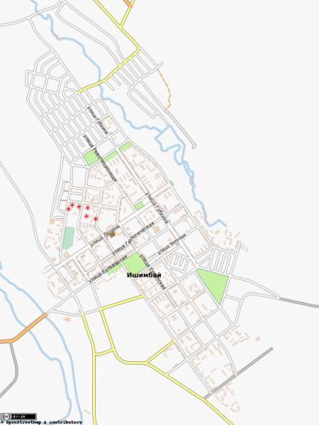 Карта Ишимбай