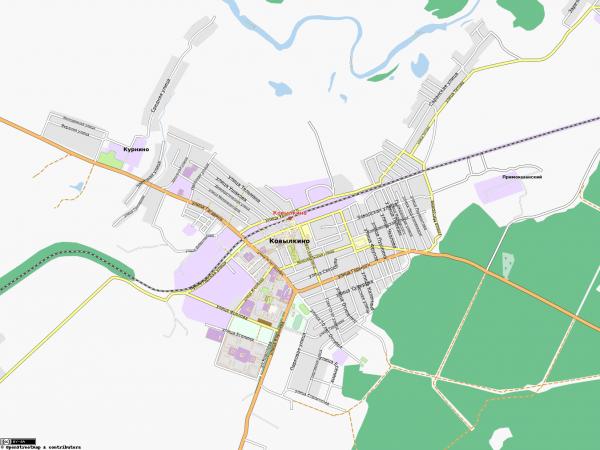 Карта Ковылкино