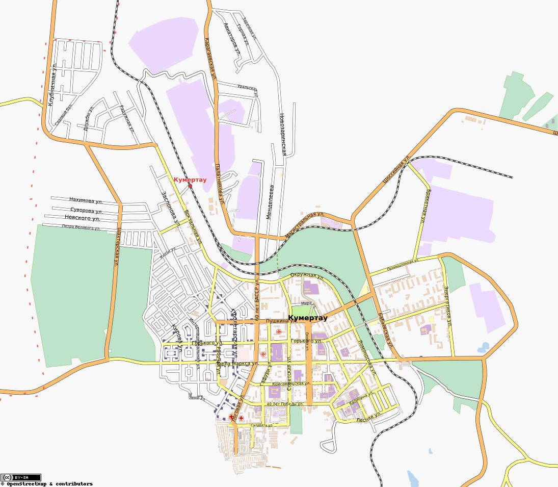 Карта Г Кумертау С Улицами