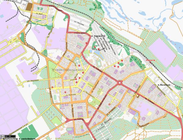 Карта Новокуйбышевска интерактивная