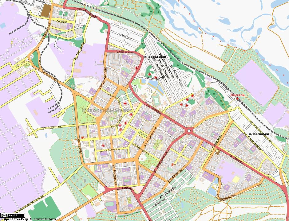 Карта Новокуйбышевска