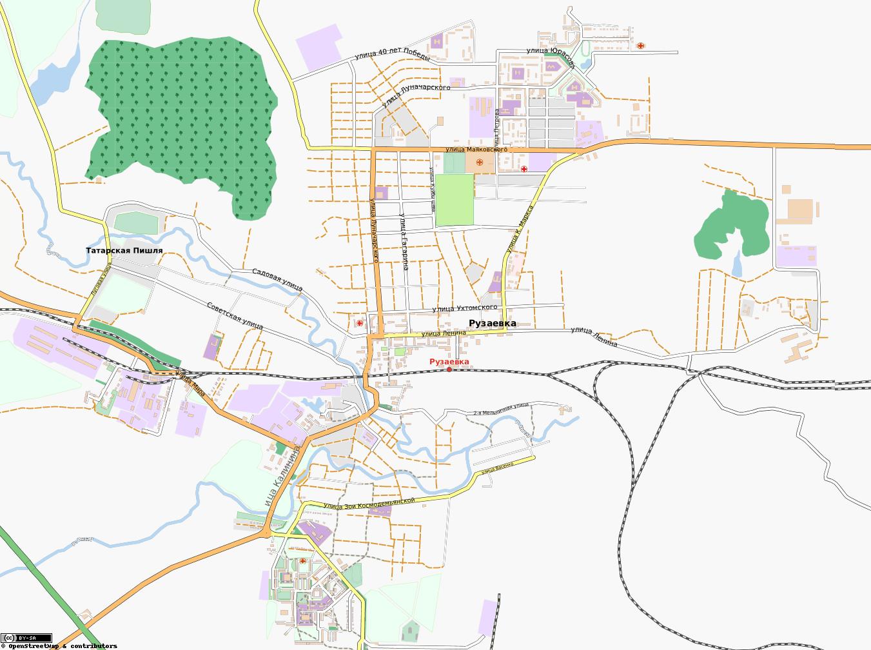 Карта Рузаевка С Улицами