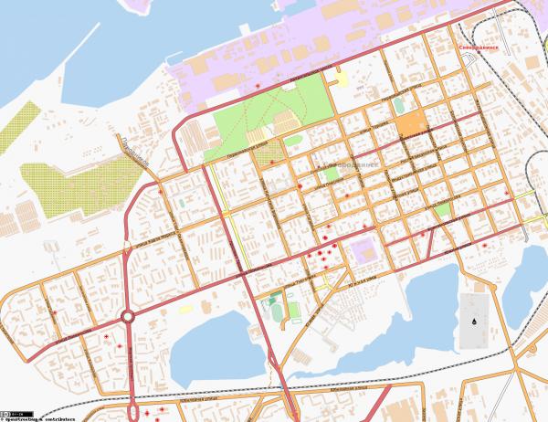 Карта Северодвинска онлайн