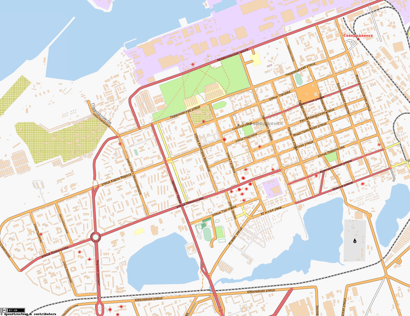 Карту северодвинска для навител