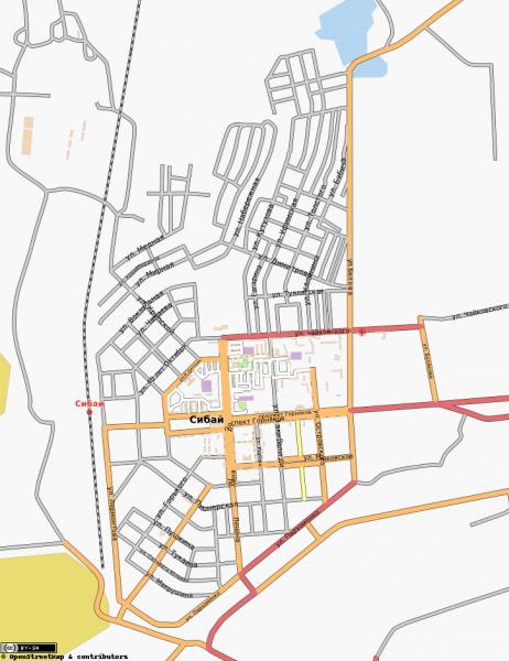 Карта Сибая