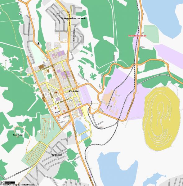 карта с улицами учалы Карта