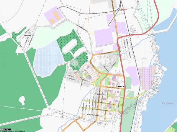 Карта Заинска