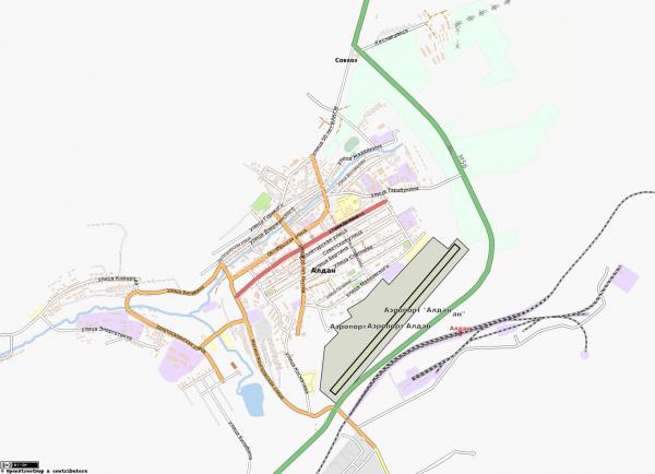 Карта Алдан