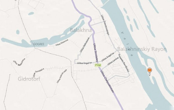 Карта города Балахна