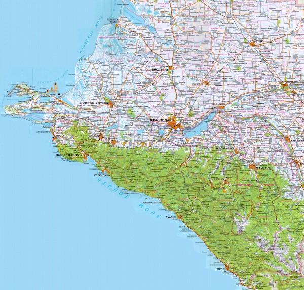 Карта Черноморский Краснодарский Край