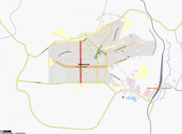 Карта Нерюнгри