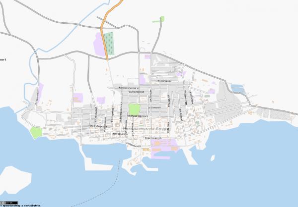 Карта Николаевск-на-Амуре схематичная