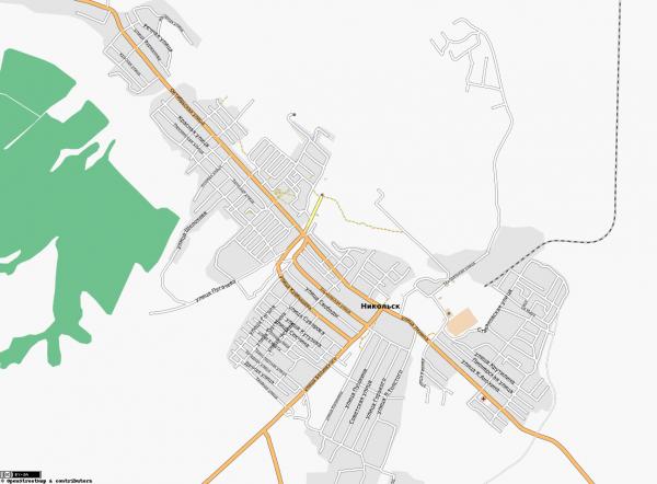 Карта Никольска