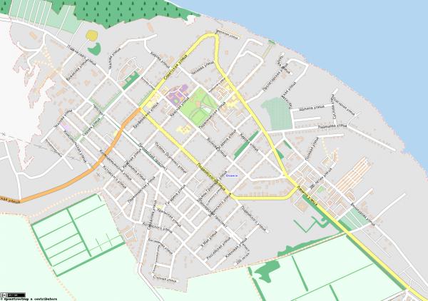 Карта города Оханск