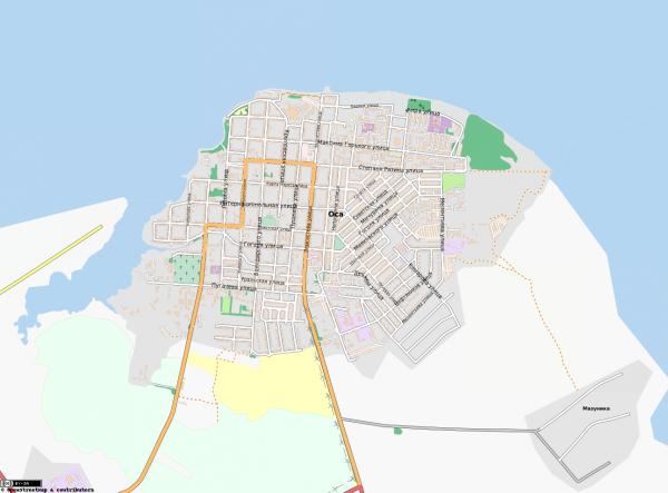 Карта города Оса