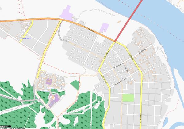 Карта города Усолье