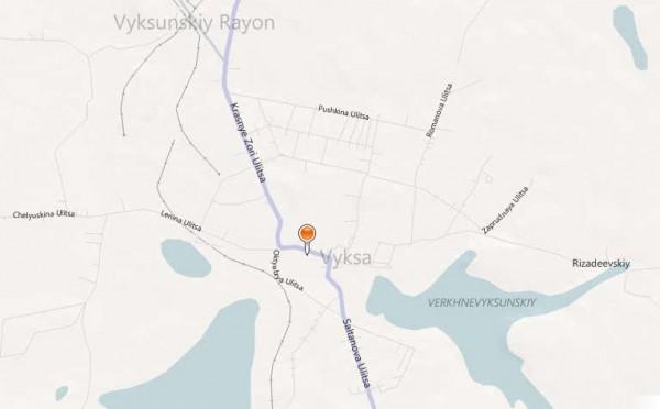 Карта города Выкса