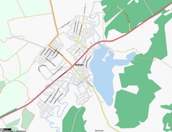 Карта Ворсмы