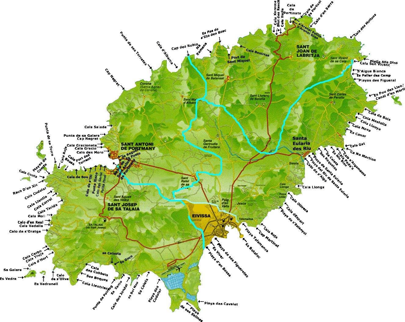 Карта испании где находится коста бланка карта