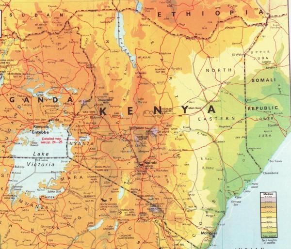 Карта Кении подробная