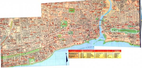 карта Санто-Доминго