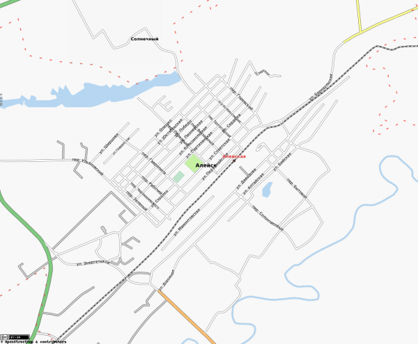 Карта Алейска
