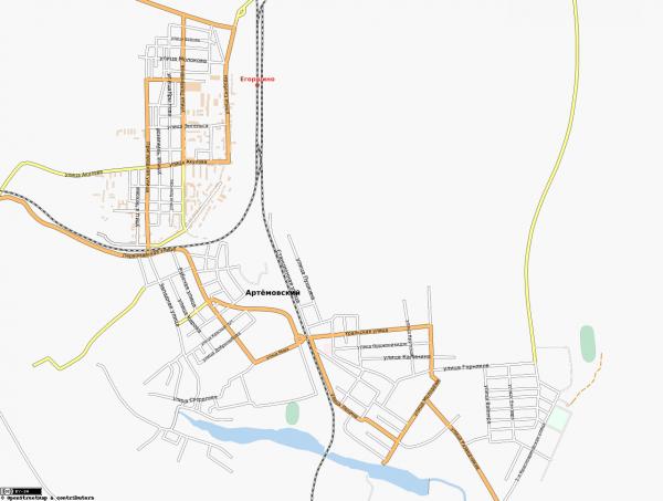 Карта Артёмовский