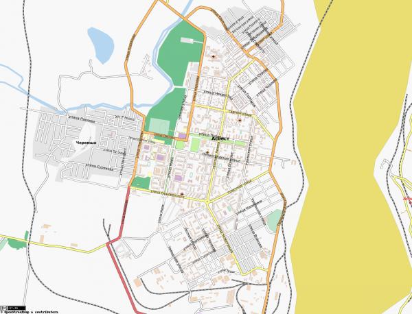 Карта Асбест