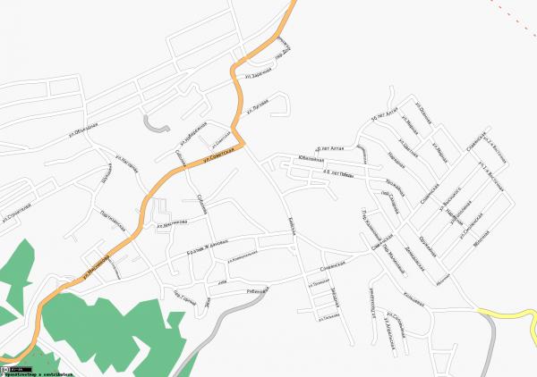 Карта города Белокуриха