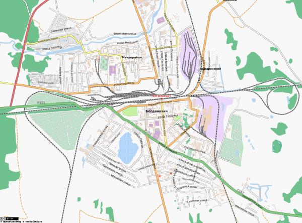 Карта Богданович