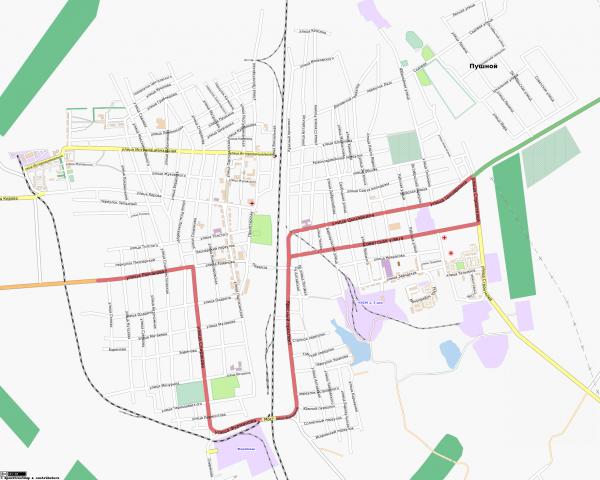 Карта города Черепаново