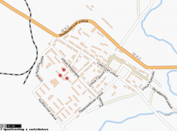 Карта города Мыски с улицами