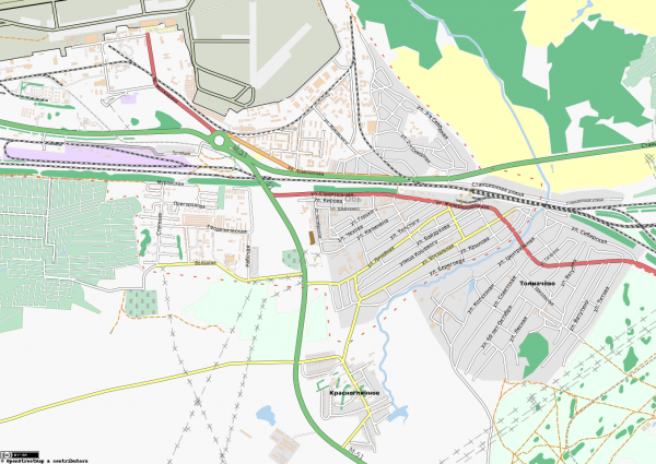 Карта Обь