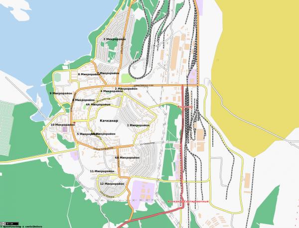 Карта Качканар