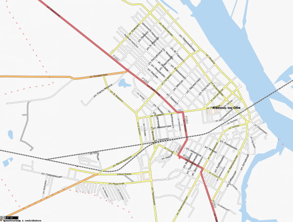 Карта Камень-на-Оби