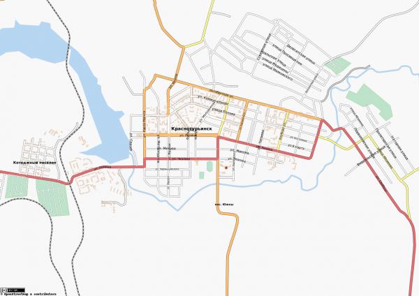 Карта Краснотурьинск