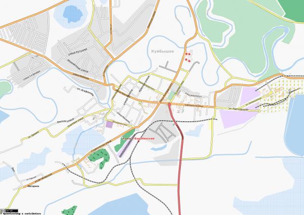 Карта Куйбышева