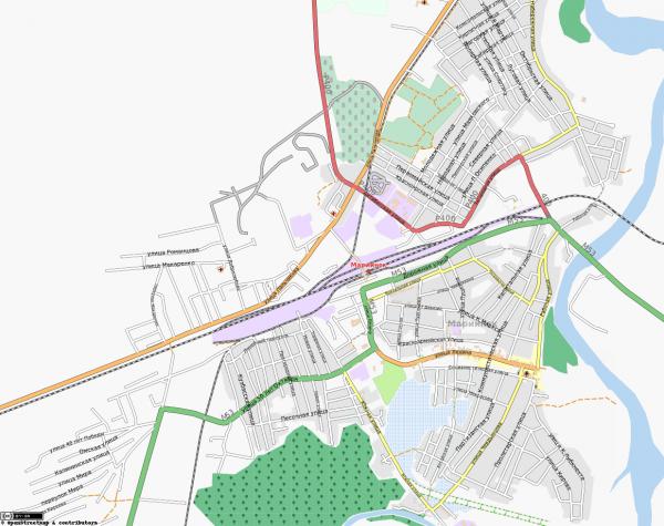 Карта Мариинска
