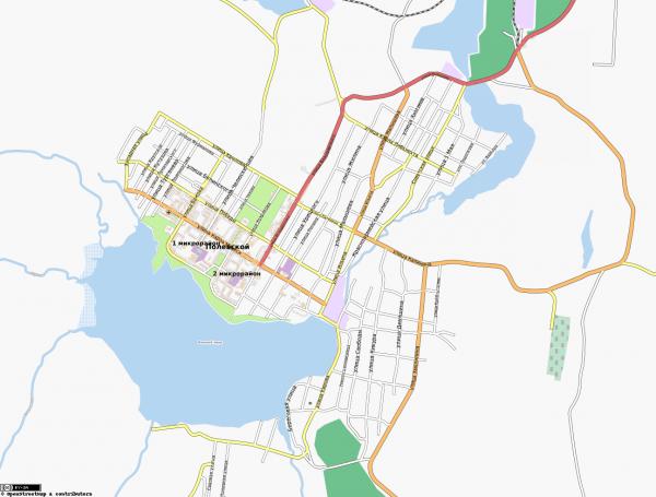 Карта Полевской