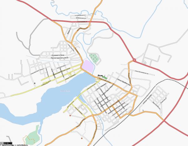 Карта Реж