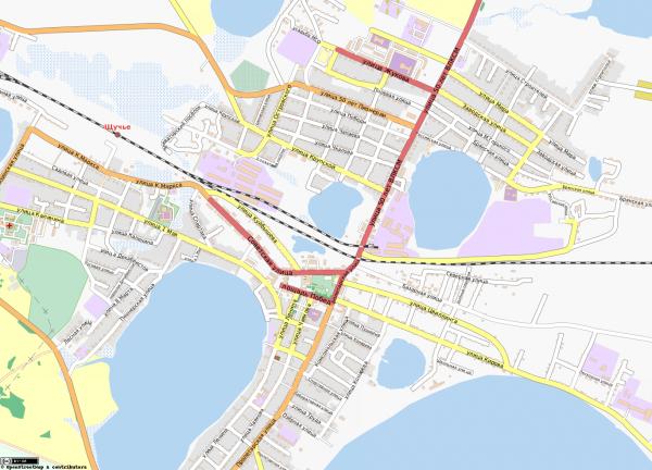 Карта города Щучье