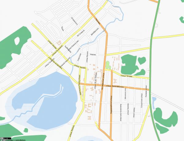 Карта города Тюкалинск