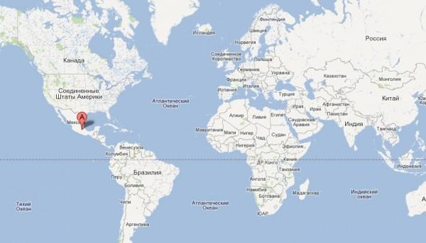 Мексика на карте мира