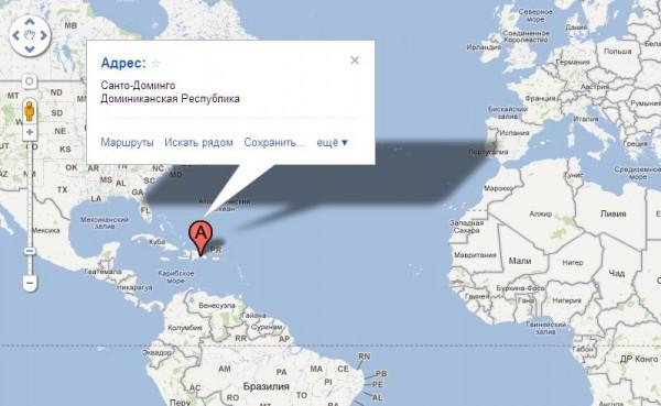 Санто-Доминго на карте