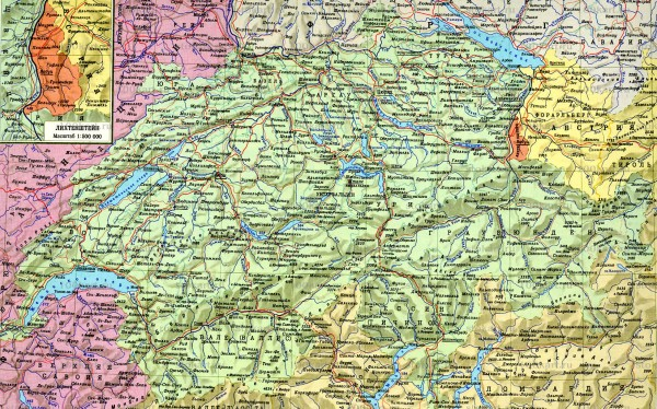 Швейцария Подробная карта